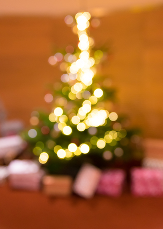Abstract blur background of Christmas tree