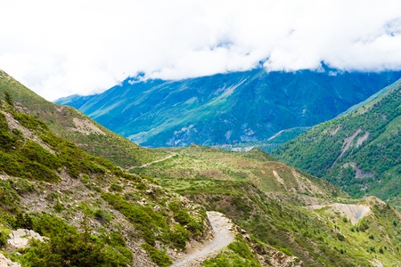 Nature view in Annapurna Conservation Area, a hotspot destination for mountaineers and Nepal's largest protected area.