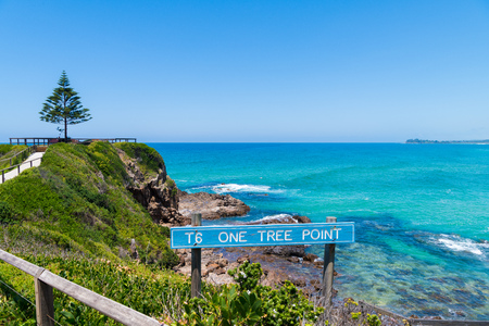 One Tree Point Beach, NSW, Australia-Dec 26, 2018: View over One Tree Point coastline, Eurobodalla, a wonderful seaside escape and perfect getaway on the NSW South Coast, Australia