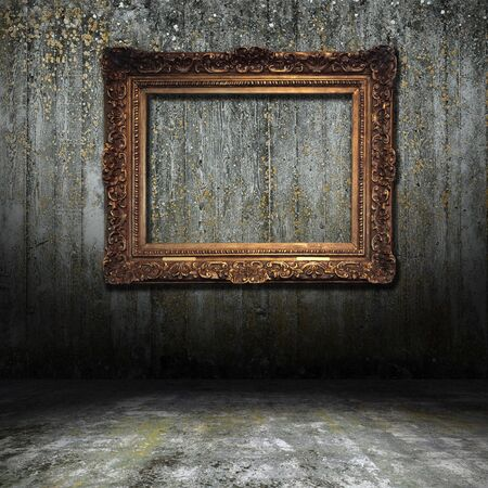 Old Styled Interior with golden frame photo