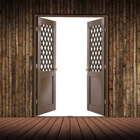 Wooden room and the door is empty Stock Photo - 6744877