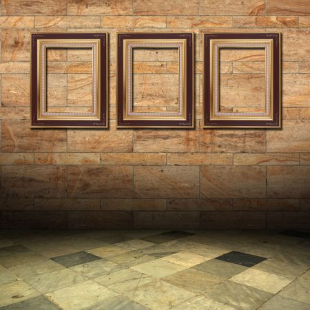 old interests of marble and gold wooden frame Stock Photo - 6805557