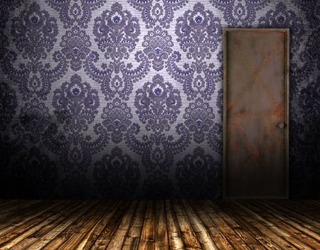 styled: old interior door Stock Photo