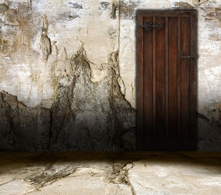 old interior door Stock Photo