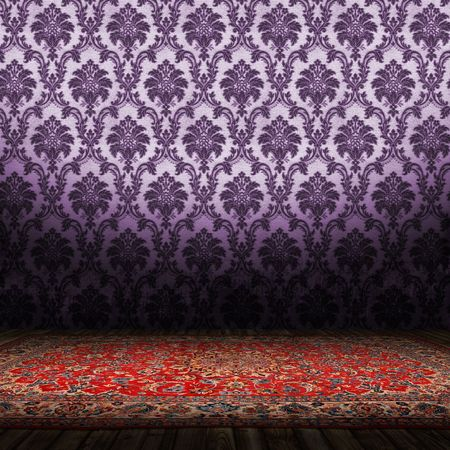 Old Styled Interior and a Persian carpet  photo