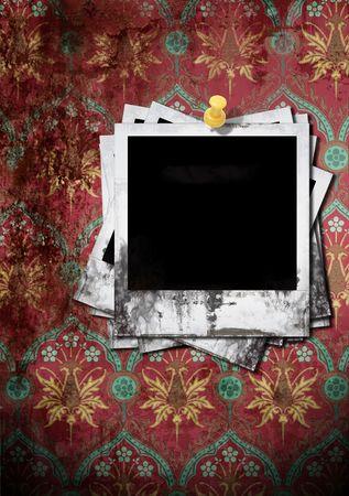 untidily: vintage photo on grunge background