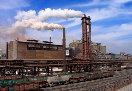 blastfurnace: Steelworks    Stock Photo