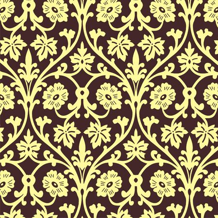 retro wallpaper seamless  Vector