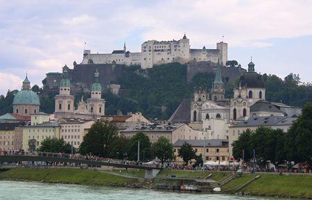 salzburg: Panorama Salzburg Stock Photo
