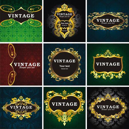 style: 9 vintage style frame