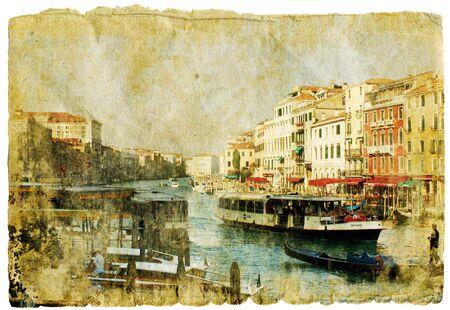 Venice - great italian landmarks - retro styled picture Stock Photo - 9242964