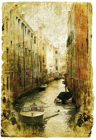 Venice - great italian landmarks - retro styled picture photo