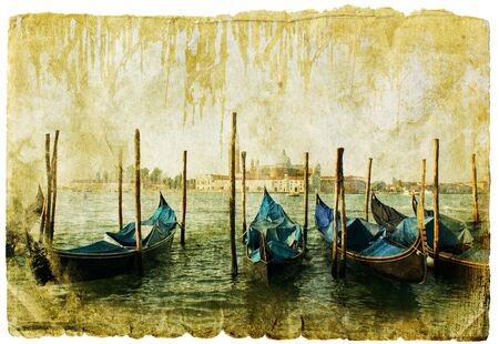 Venice - great italian landmarks - retro styled picture Stock Photo - 9242632