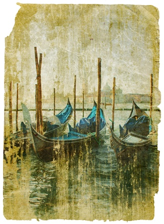 Venice - great italian landmarks - retro styled picture Stock Photo - 9242982