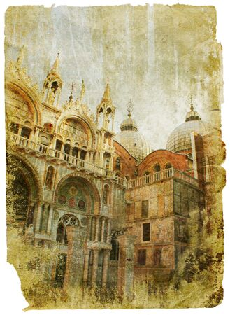 Venice - great italian landmarks - retro styled picture Stock Photo - 9242929