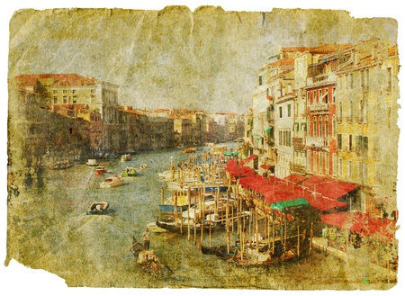 Venice - great italian landmarks - retro styled picture Stock Photo - 9243003