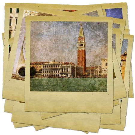 Venice - great italian landmarks - retro styled photo collage Stock Photo - 9356593