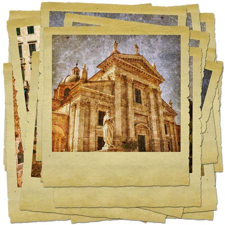 Urbino - retro style photo collage photo