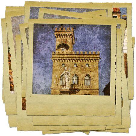 san marino: San Marino - retro style photo collage
