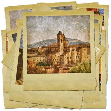 Urbino - retro style photo collage Stock Photo - 9373087