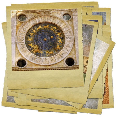 Venice - great italian landmarks - retro styled photo collage photo
