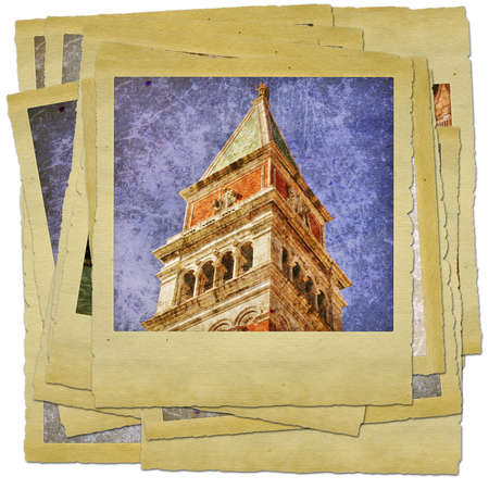 Venice - great italian landmarks - retro styled photo collage Stock Photo - 9373086