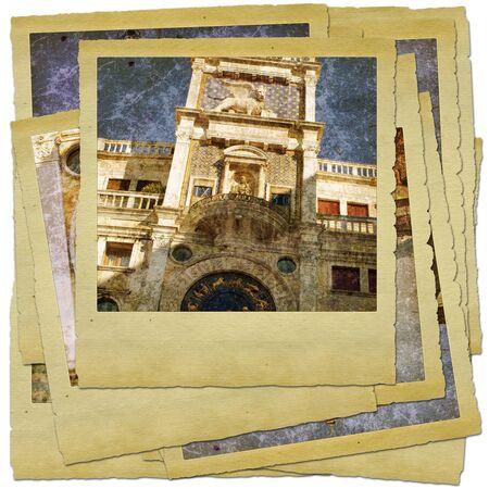 Venice - great italian landmarks - retro styled photo collage Stock Photo - 9373088