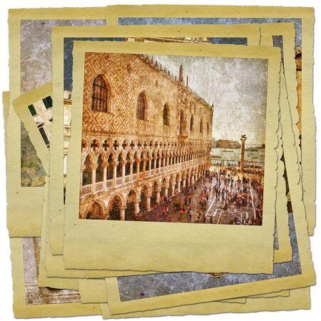 Venice - great italian landmarks - retro styled photo collage Stock Photo - 9373092