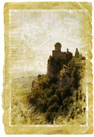 San Marino - retro style  photo