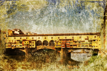 Florence - retro style picture photo