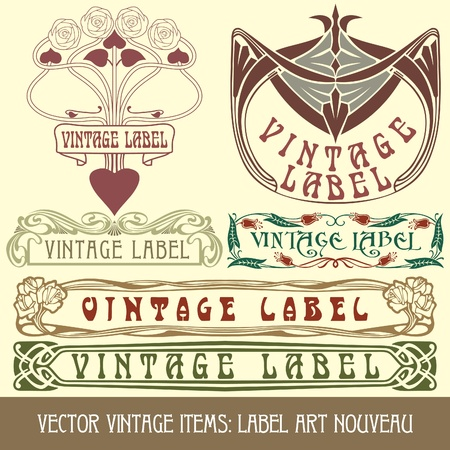 tradition art: vintage items: label art nouveau