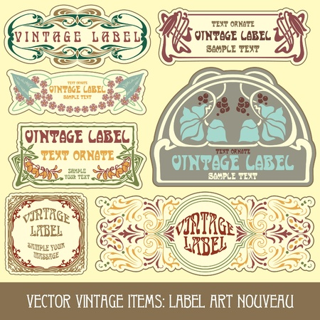 vintage items: label art nouveau