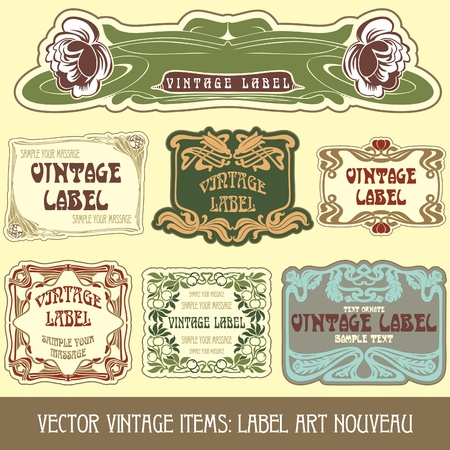 vintage items: label art nouveau Stock Vector - 10475522