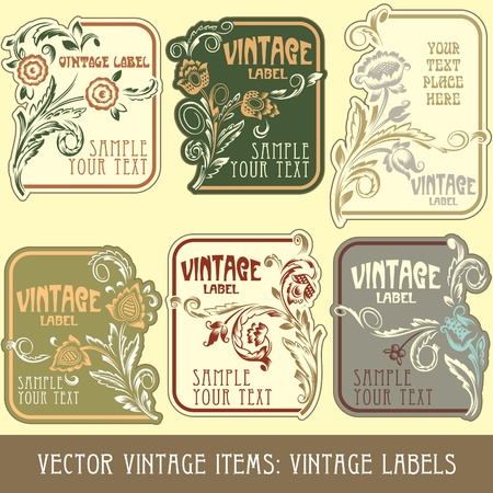 art nouveau frame: vintage items: label art nouveau
