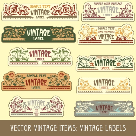 art product: vintage items: label art nouveau