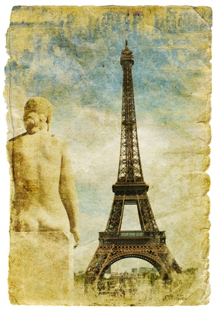 France- retro style picture photo