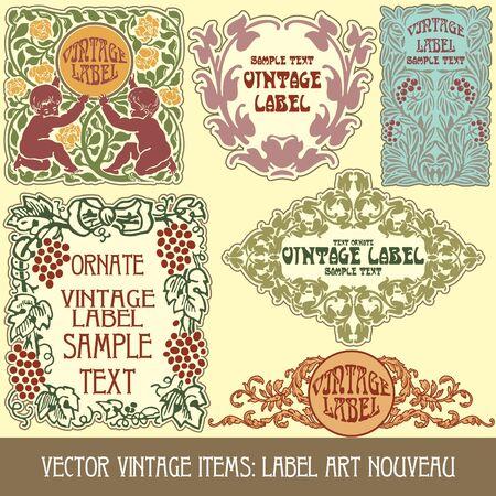 vintage items: label art nouveau