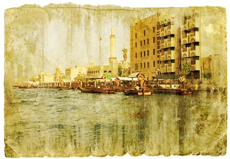 dubai - retro style picture photo