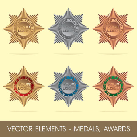 elements - medals, awards Vector