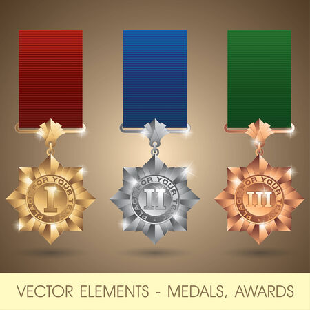 orden: Vector elements - medals, awards