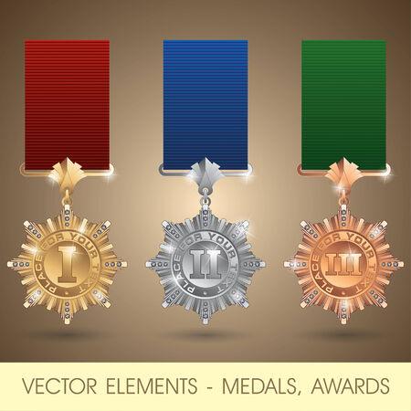 estrellas  de militares: elementos - medallas, premios