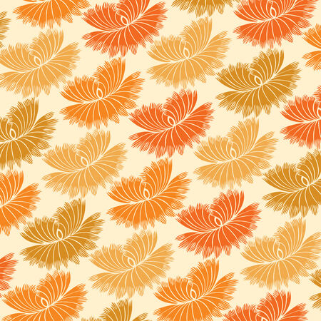 decorative wallpaper: Abstract seamless pattern - art nouveau