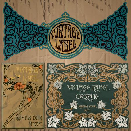 Oggetti d'epoca etichetta Liberty Archivio Fotografico - 39042466