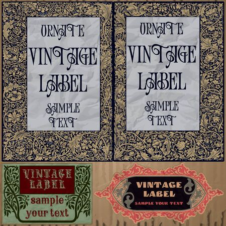 art nouveau design: vintage items  label art nouveau Illustration