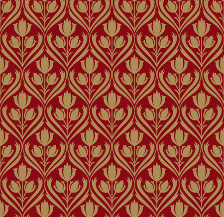 gold leaf: retro wallpaper seamless