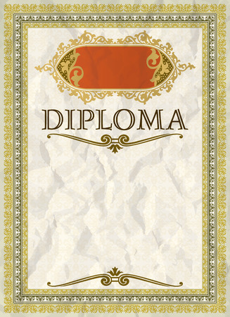 Vintage frame, certificate or diploma template Иллюстрация