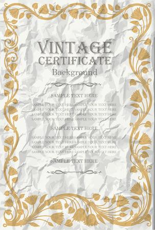 vintage frame design: art nouveau Illustration