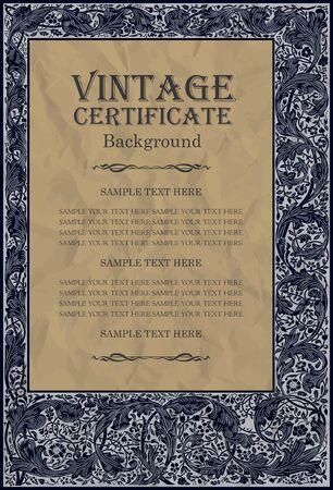 old book cover: vintage frame design