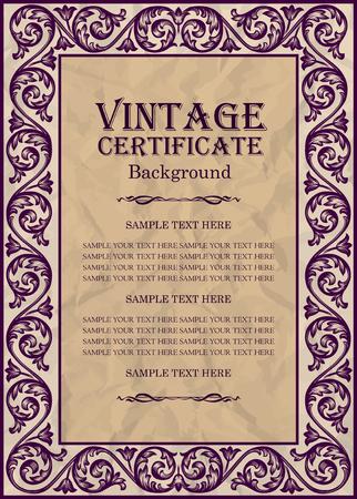 design frame: vintage frame design