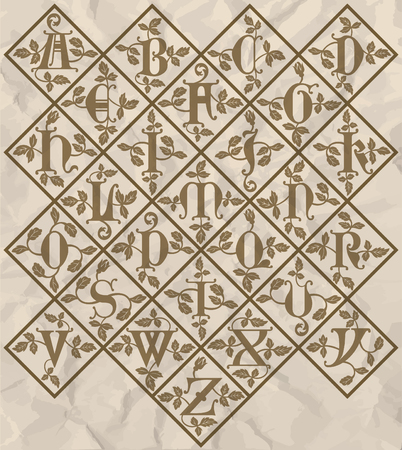 codex: ornamental letter alphabet